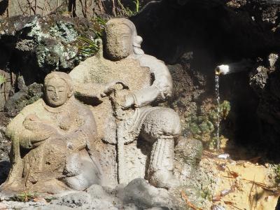 湯前神社 温泉湯治の中に ひっそりと建つ歴史の古い神社 源実朝歌碑