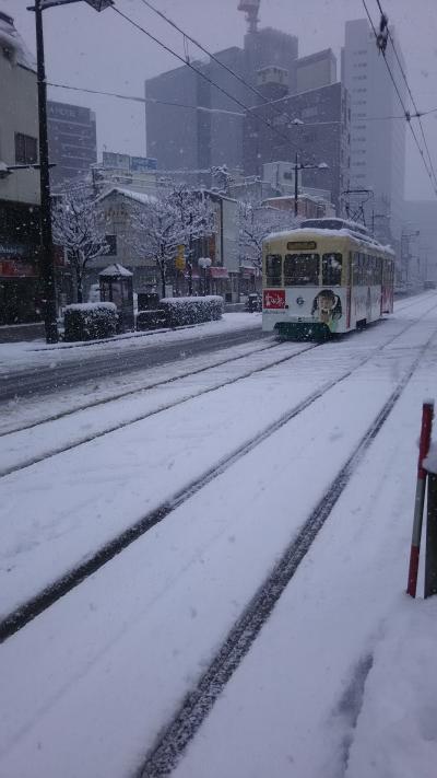 大寒波襲来!一晩ですっかり雪景色!新幹線で行く北陸 富山編