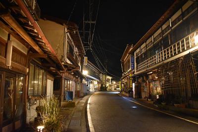 【奈良県】天川村、洞川温泉、ひっそりと寒い夜、行者の宿 角甚