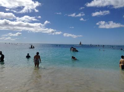 ワイキキビーチで過ごす冬のハワイ