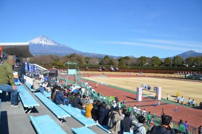富士山女子駅伝を見て来ました 2017.12.30 =2.富士陸上競技場で駅伝観戦=