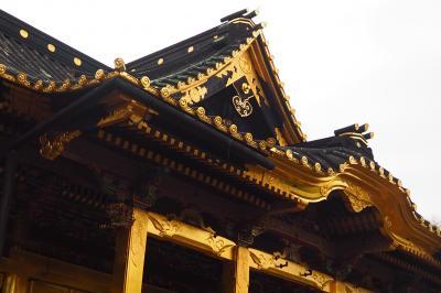 上野東照宮 病床の家康 遺言にて造営。江戸を残し、現存する金色殿とも呼ばれる絢爛豪華な社殿