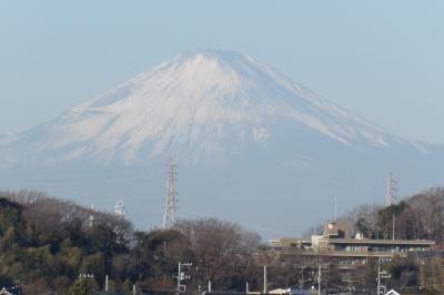 JR北鎌倉駅裏手から見る初富士