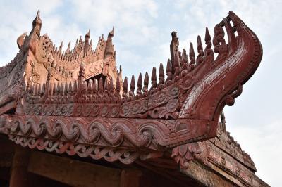 ミャンマーの古都アマラプラとマンダレーで、美しいサンセット