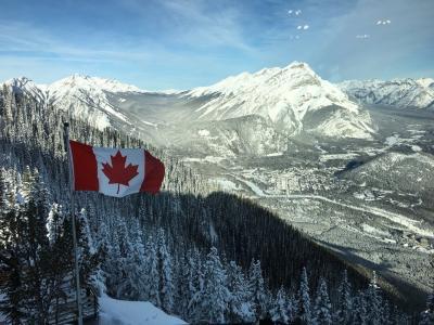 冬のカナダを旅する★バンフ観光