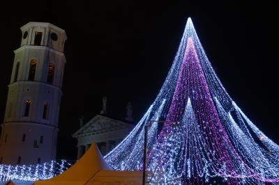 旅する貧乏ガードマン、今度のお題はバルト3国 「貧乏ガードマンのバルト3国イルミ、クリスマスマーケット巡り」Ver4ツリー点灯式と意外なカラフルタウン、トラカイ散策