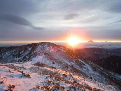 年末年始 冬の北岳へ~池山吊尾根から~