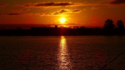 早朝散歩 瑞ヶ池の日の出 下巻。