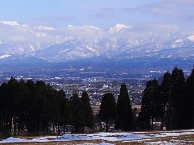 日本100名城スタンプラリーを始めたのでスタンプを押すだけの長野中信・富山2名城巡りと真冬の越中八尾・飛騨古川を歩く