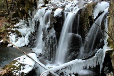 ◆小寒氷結の八流の滝