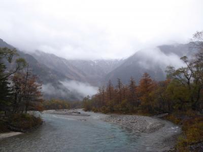 晩秋の上高地♪ Vol3(第1日) ☆梓川に沿って河童橋へ歩く♪