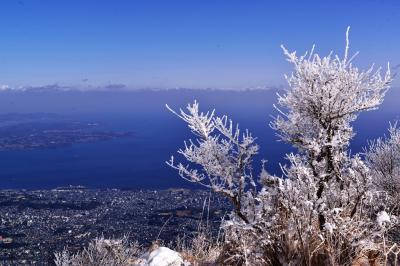 鶴見岳の霧氷2018