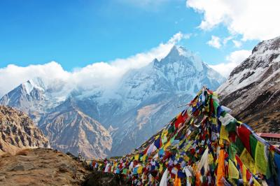 標高4000m超の ABCトレッキング-気温差50℃の旅-【神々の峯へ-1(ネパール入国・ポカラ散歩)】個人手配で 6泊7日ヒマラヤ 山歩き