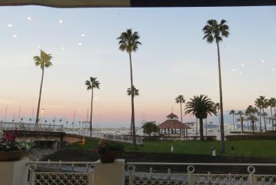 2017暮、大阪湾の名城巡り(28/42):12月7日(1):和歌山城(1/7):和歌山で泊まったホテル、マリーナ光景、朝の散策