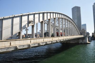 喜寿の跳ね橋を見学~隅田川勝どき橋~