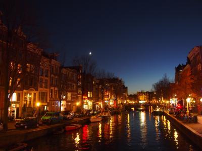 アムステルダムの夜の街歩き