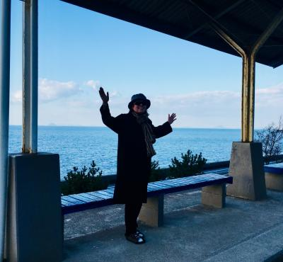 オイしい話に鼻が効くのにいつも手遅れ。でも負けない。 寒さに打ちひしがれたが、旅友と一緒だと心もヌクヌク。 愛媛 松山 四国最南端佐田岬へ