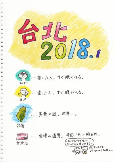 ぶるる旅絵日記 台北2018正月