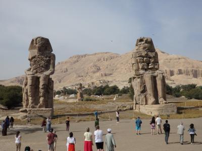 Colossi of Memnon & Felucca(Luxor ⑤)メムノンの巨像とファルーカ船 2017年12月24日ルクソール⑤