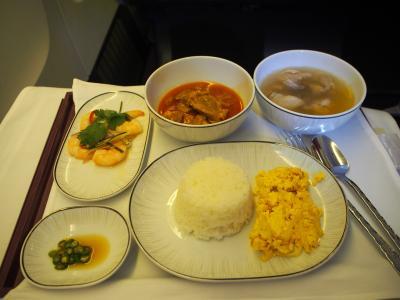 タイ航空 ビジネスクラス (セントレア→バンコク)