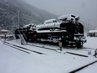 冬・雪の津和野気ままな一人旅・・・モノクロの世界を歩く変人が一人・・・