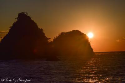 正月明けの伊豆ドライブ旅行(1) ~西伊豆の夕陽、富士山、星空~