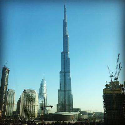 高くて高い街ドバイ。その1「ブルジュ・ハリファの展望台」