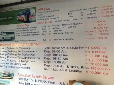 東南アジア縦横断の旅道中記  12【旅行者用滞在情報】《ルアンパバーンでの生活費と交通費》