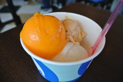 【沖縄旅行】バニラエアのわくわくバニラ2480円!那覇からレンタカーで出発!アメリカンヴィレッジでブルーシールのアイスを食べたよ。