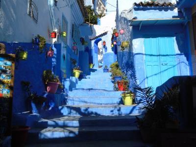 モロッコ訪問記 『青い村シャウエン』 山間にある青色の村