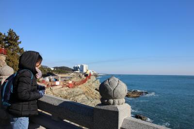 寒波襲来! 釜山で震える!②海雲台、龍宮寺