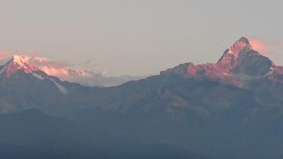 年末のネパール家族旅行 【その1】 すぐそこにヒマラヤ ポカラ