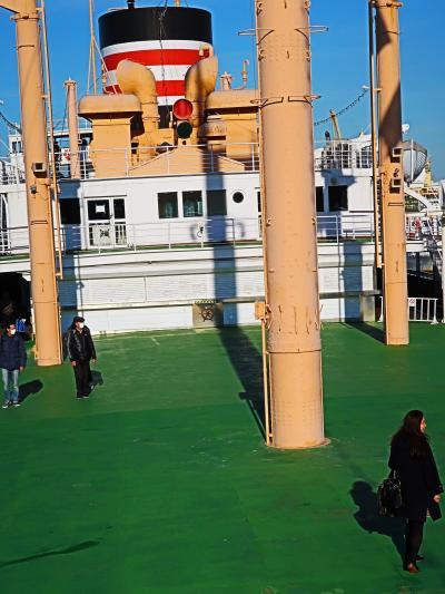 横浜港-8 氷川丸4/5 オープンデッキ・展示室など見学  ☆太平洋横断238回の実績