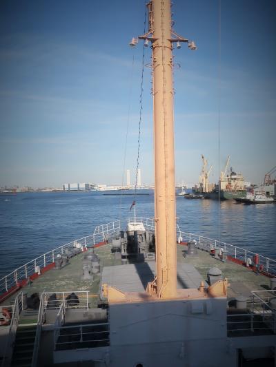 横浜港-9 氷川丸5/5 操舵室・機関室など見学 ☆現役時代のエンジンを保存