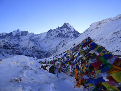 2018年1月6日 早朝のネパール・アンナプルナBC 標高4130m