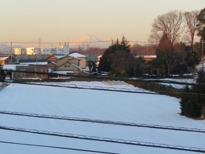 久しぶりにふじみ野市より見られた朝焼け富士