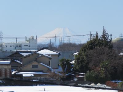 1月27日に見られた美しい富士山