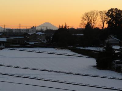 1月27日、ふじみ野市より素晴らしい影富士がみられました