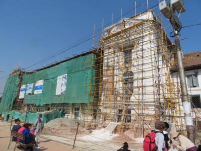 地震後2年半のカトマンズ パタン バクタプール