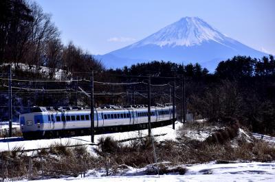 ありがとう189系M50編成ラストランと白銀に染まる富士山と八ヶ岳の風景を探しに訪れてみた