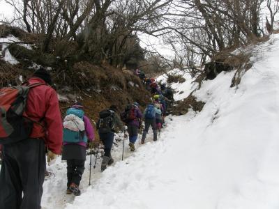 雪の大山・別名・雨降山に登ってきました
