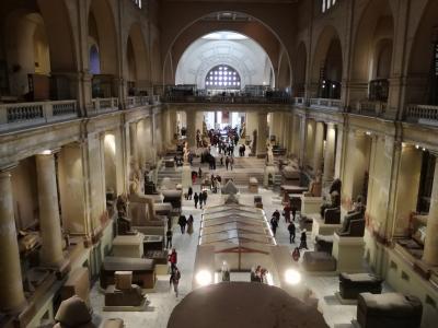 2度めのドバイと初めてのカイロ・ギザの旅!その3 エジプト・カイロ ☆エジプト考古学博物館とクラブラウンジ【インターコンチネンタル カイロ セミラミス】2018年1月
