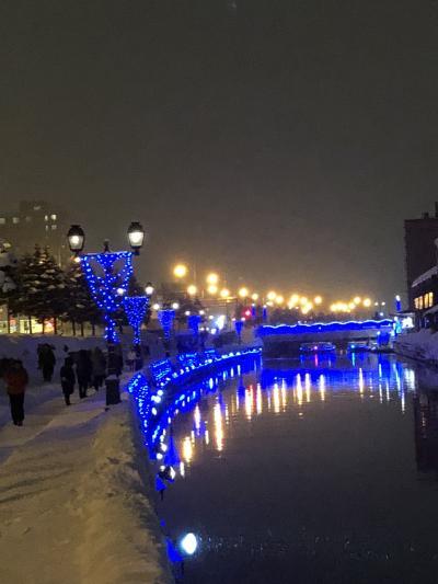 2018 真冬  小樽  ゆき物語  青の運河  運河の宿 ふる川に泊まる 1日目