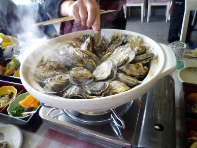 かき鍋御膳とむし牡蠣食べ放題、日帰りツアー参加