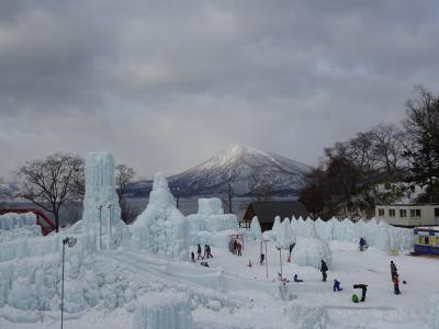 2018年1月 朝の「支笏湖氷濤まつり」へ