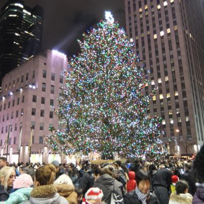 マンハッタンとブルックリンに泊まるホリデーシーズンのニューヨーク5日目<チェルシーマーケット~NBA観戦~ロックフェラーセンターのクリスマスツリー>