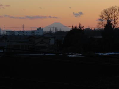 久しぶりにふじみ野市より見られた素晴らしい影富士