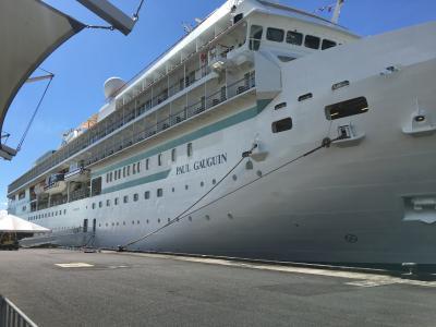 結婚25周年記念 ポールゴーギャン号クルーズ・待ちに待った乗船そして新しいチャレンジ・二人でスキューバダイビングの講習に参加(タヒチ島とファヒネ島)
