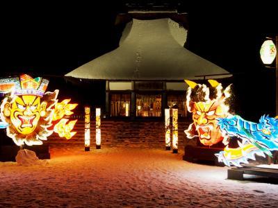 <青森雪見旅・2>冬の「ねぶた」だ!お祭りだ!星野リゾート滞在・冬の青森屋(夜の部)