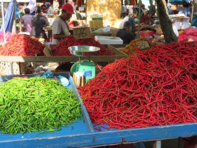 インドネシア 「行った所・見た所」 バタム島のナゴヤ市街地散策・市場やバザールを見ました